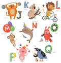 Zoo Alphabet For Children. Set Of Letters And Illustrations. Cute Animals Stock Photo - 86646750