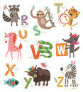 Zoo Alphabet For Children. Set Of Letters And Illustrations. Cute Animals Stock Photos - 86646813