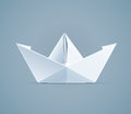 Paper Origami Ship. Handmade Toy Stock Image - 86648831