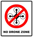 No Fly Drones Sign. No Fly Zone, Drone Sign Isolated On White Background, Vector Illustration. Prohibition Symbol In Red Royalty Free Stock Photo - 86655125