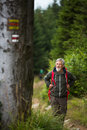 Active Senior Hiking In High Mountains Royalty Free Stock Images - 86662239