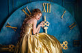Beautiful Woman In A Ball Gown Stock Photos - 86666633