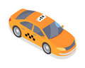 Taxi Car Vector Icon In Isometric Projection Royalty Free Stock Photo - 86679155