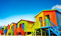 Colorful Beach Huts On The Beach Of St.James Stock Images - 86689784