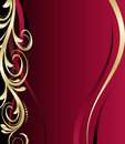 Red And Gold Floral Background Royalty Free Stock Photography - 8671377