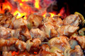 Meat Is Fried On Fire Royalty Free Stock Images - 8677319
