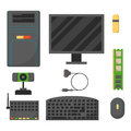 Computer Parts Network Component Accessories Various Electronics Devices And Desktop Pc Processor Drive Hardware Memory Stock Image - 86702081