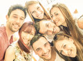 Happy Best Friends Taking Selfie And Having Fun Together Stock Photo - 86743830