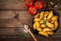 Fried Potatoes In A Rural Style Stock Image - 86815851