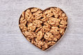 Walnuts In A Heart-shaped Box. Royalty Free Stock Image - 86844366