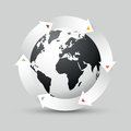 Earth Globe With Colored Arrows Stock Image - 86897241