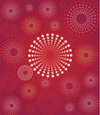 Red Flower Retro Background Royalty Free Stock Images - 8693419