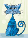 Blue Cat Sitting Stock Photos - 8695413