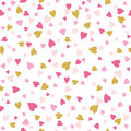 Seamless  Background With  Golden And Pink Valentine Hearts Royalty Free Stock Photos - 86903088
