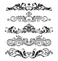 Retro Victorian Elements Collection For Calligraphic Design. Genuine Floral Frame Elements Royalty Free Stock Photo - 86932125