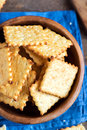 Homemade Cheesy Crackers Stock Images - 86957874