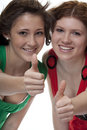 Lucky Teenager With Thumbs Up Stock Photo - 8704470