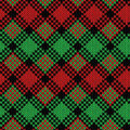 Seamless Knitted Pattern In Black, Green And Red Colors Royalty Free Stock Photo - 87021255