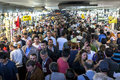 A Mass Of People Move Through An Underpass At Eminonu In Istanbul In Turkey. Royalty Free Stock Image - 87082266
