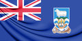 3D Flag Of Falkland Islands. Stock Photo - 87122160