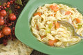 Bowl Of Hot Homemade Chicken Noodle Soup Royalty Free Stock Photography - 8723347