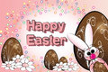 Easter Eggs And Bunny - Kids Illustration Stock Image - 8726331