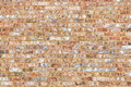 Sandy Coral Colored Brick Wall Stock Photos - 87247773