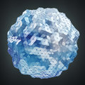Floating White And Blue Glowing Sphere Network 3D Rendering Royalty Free Stock Photos - 87272358