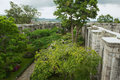 View To The Inner Yard Of The Santiago Apostol Cathedral Ruins In Cartago, Costa Rica. Stock Photo - 87279110