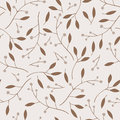 Berries, Leaves And Branches Vector Seamless Pattern. Stock Photography - 87287292