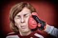 Woman Being Punched In Her Face Royalty Free Stock Photos - 87302928