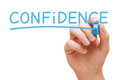 Confidence Handwritten With Blue Marker Stock Photography - 87312482