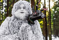 Yeti Fairy Tale Character In Winter Forest. Outdoor Fantasy Photo. Royalty Free Stock Images - 87314139