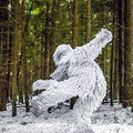 Yeti Fairy Tale Character In Winter Forest. Outdoor Fantasy Photo. Royalty Free Stock Image - 87316376