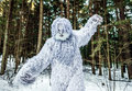 Yeti Fairy Tale Character In Winter Forest. Outdoor Fantasy Photo. Stock Photos - 87317543