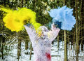 Yeti Fairy Tale Character In Winter Forest. Outdoor Fantasy Photo. Stock Image - 87318481