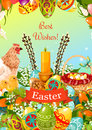 Easter Spring Holiday Cartoon Greeting Card Design Royalty Free Stock Photo - 87333995