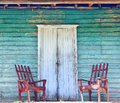 Wooden Porch Of The Old House Stock Photo - 87365020