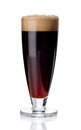 Misted Glass Of Red Beer On White Stock Image - 87368291