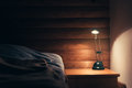 Bedroom Lamp On A Night Table Stock Images - 87385844
