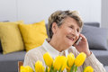Woman Talking On The Phone Royalty Free Stock Image - 87387796
