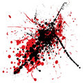 Blood Splat With Black Stock Image - 8746351