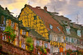 Reflection Of Half-Timbered Street Royalty Free Stock Image - 8749066