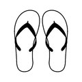 Flip Flops Isolated Icon Stock Photo - 87401100