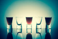 Small Glasses With A Drink Shots Of Alcohol Stainding In A Table Royalty Free Stock Photography - 87419477