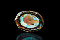 Fire Opal Gem Stone, Healing Stone, Black Background, Mineral Stock Image - 87436071