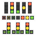 Road Traffic Light Vector. Realistic LED Panel. Sequence Lights Red, Yellow, Green. Go, Wait, Stop Signals. Isolated On Royalty Free Stock Photo - 87443155