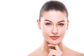 Beauty Woman Face Portrait. Beautiful Spa Model Girl With Perfect Fresh Clean Skin. Royalty Free Stock Photo - 87455475
