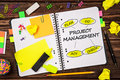 Open Notepad With Project Management Sign Stock Photography - 87455602