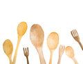 Wooden Spoons And Fork With Place For Text Royalty Free Stock Image - 87455936